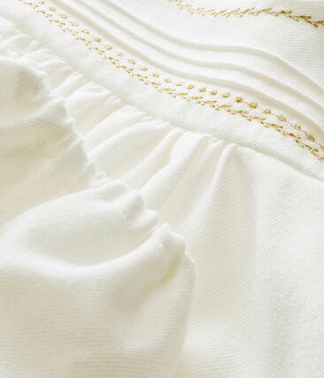 Abito e bloomer per bebé femmina bianco Marshmallow