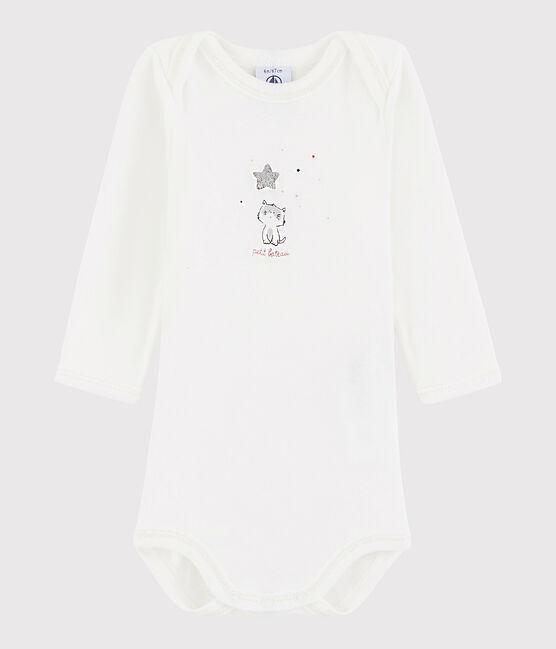 Body manica lunga bebè maschietto bianco Marshmallow