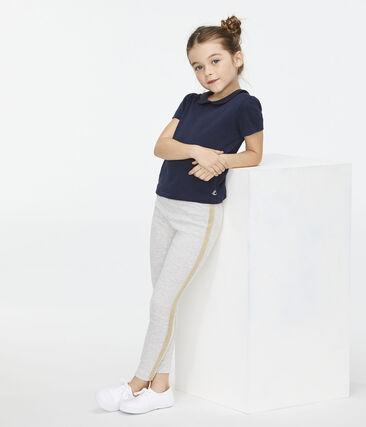 T-shirt bambina blu Smoking