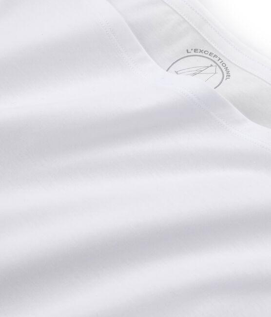 T-shirt maniche corte donna in cotone sea island bianco Ecume