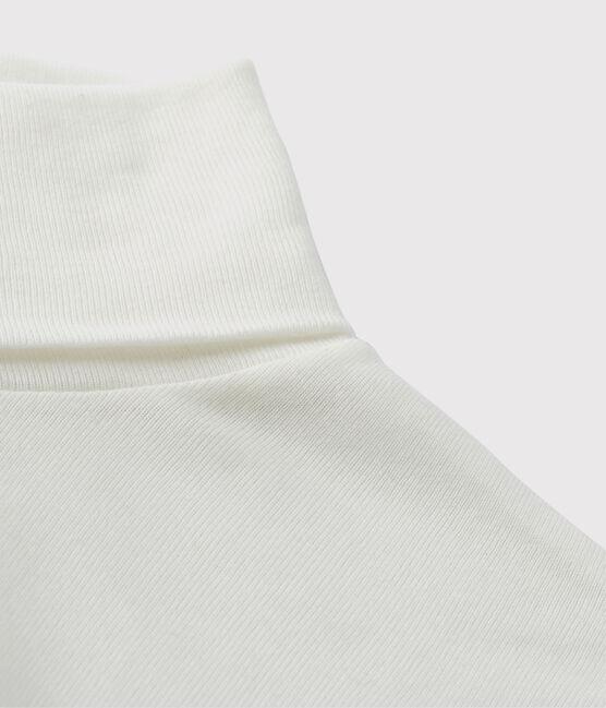 Dolcevita iconico in cotone Donna bianco Ecume