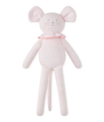Doudou topolino millerighe rosa Vienne / bianco Ecume