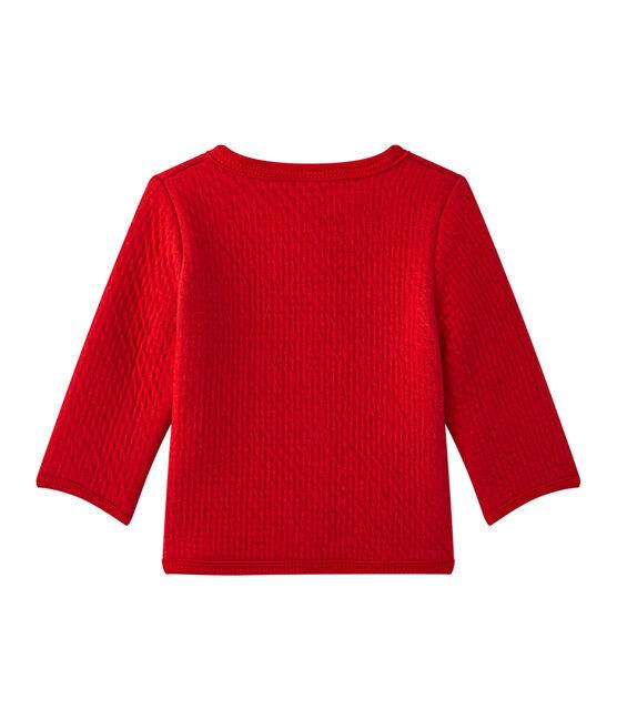 Cardigan bebé bambina tinta unita rosso Terkuit