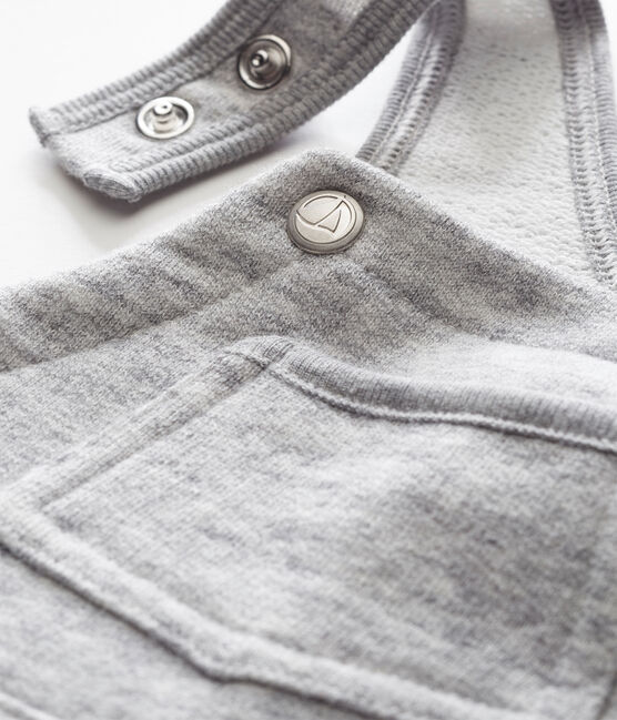 Salopette in maglia per bebé maschio grigio Gris