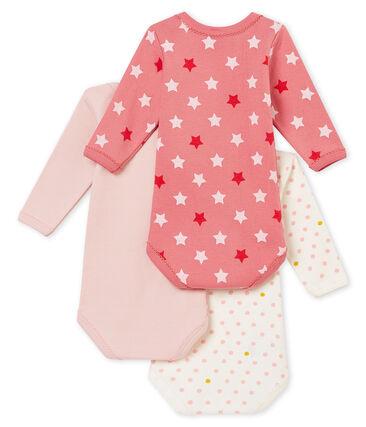 Lotto di 3 bodies a maniche lunghe per bebé femmina