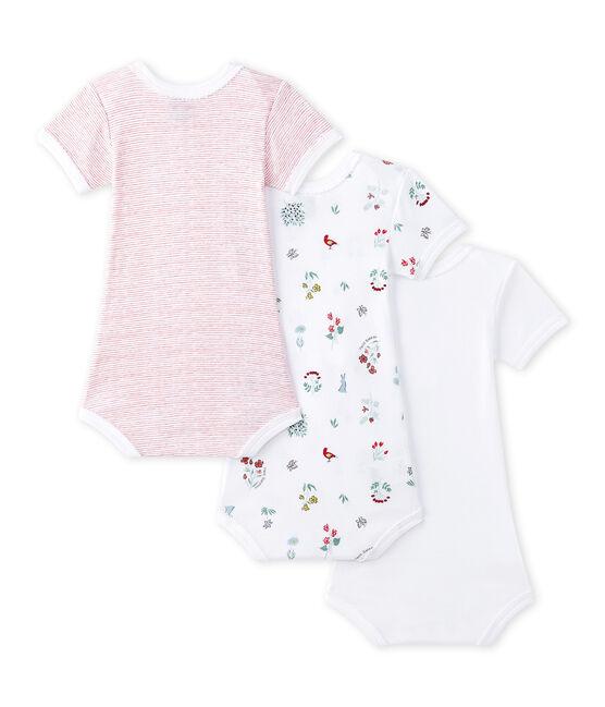 Lotto di 3 bodies per bebé femmina a maniche corte lotto .