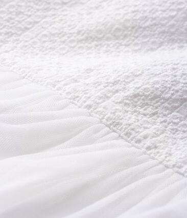 Abito da cerimonia bebè femmina bianco Marshmallow / marrone Cuivre