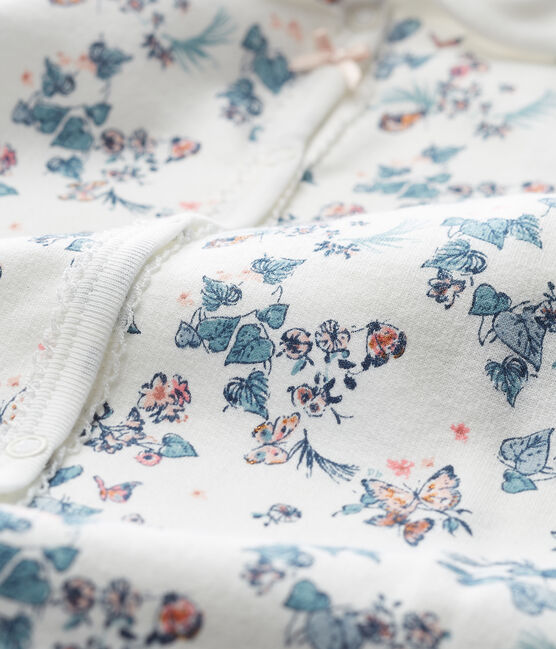 Tutina pigiama bambina bianco Marshmallow / bianco Multico