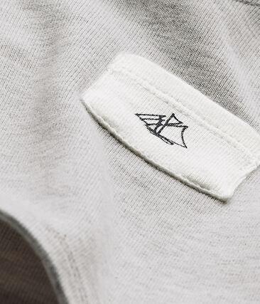 T-shirt bebé bambino tinta unita grigio Beluga Chine