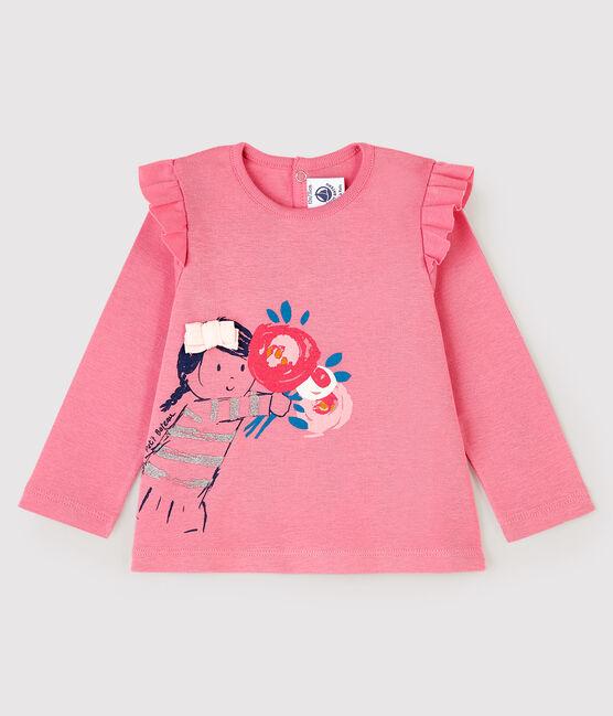Blusa a manica lunga bebè femmina rosa Cheek