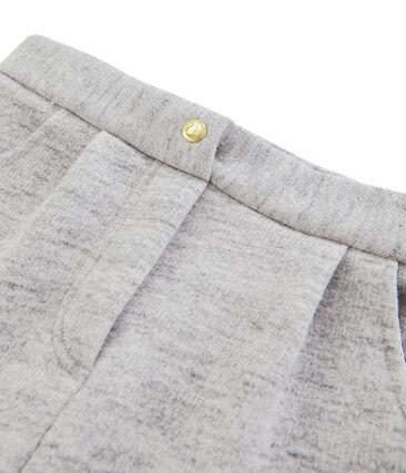 Pantaloni bambina in molleton grigio Vicky Bleu Chine