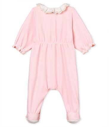 Tutina pigiama bebè femmina in velluto di cotone
