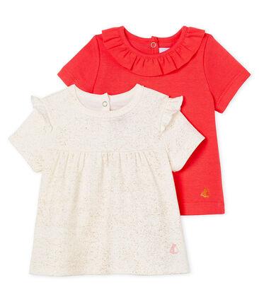 Confezione da 2 t-shirt mc bebè femminuccia
