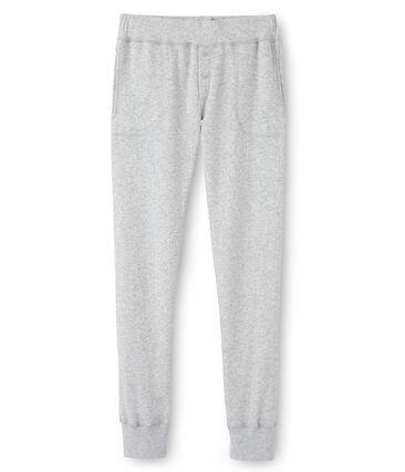 pantalone donna in tubique extrafine grigio Poussiere Chine