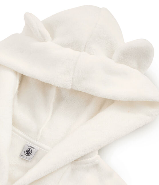 Vestaglia in pile da bambino bianco Marshmallow