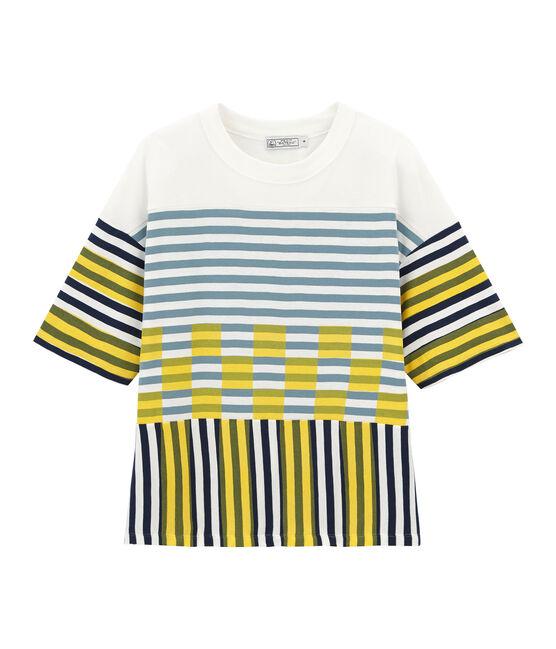 T-shirt grafica maniche corte unisex bianco Marshmallow / bianco Multico