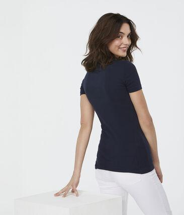 T-shirt iconica donna blu Smoking