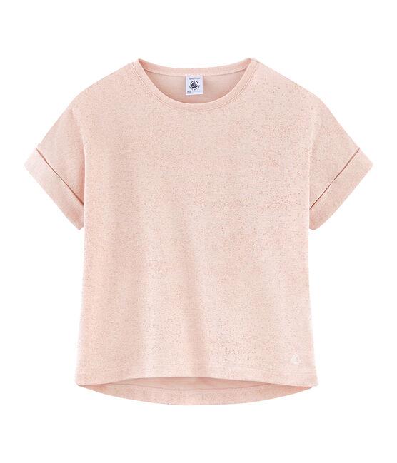 T-shirt a maniche corte bambina rosa Pearl / rosa Copper