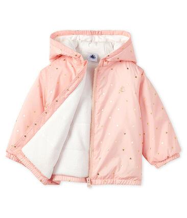Giacchino bebè unisex foderato in pile rosa Minois / giallo Or