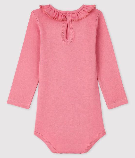 Body manica lunga bebè femmina rosa Cheek