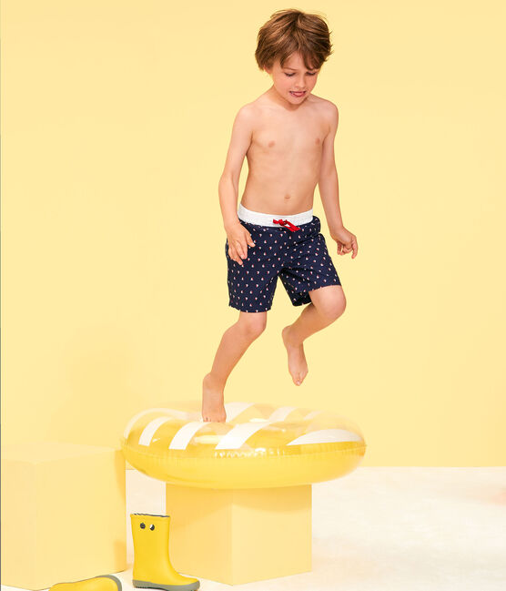 Shorts mare stampati bambino blu Submarine / bianco Multico
