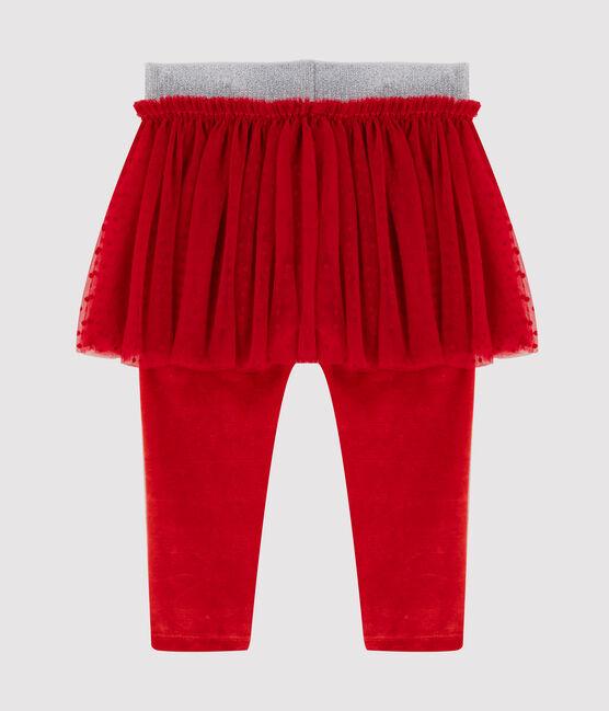 Leggins bebè con gonna in tulle rosso Terkuit