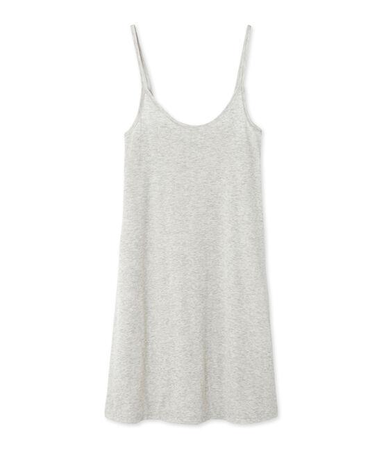 Chemise à bretelles femme en coton léger grigio Beluga Chine