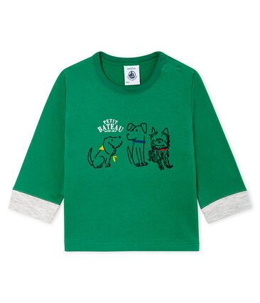 T-shirt a manica lunga bebè maschio verde Ecology