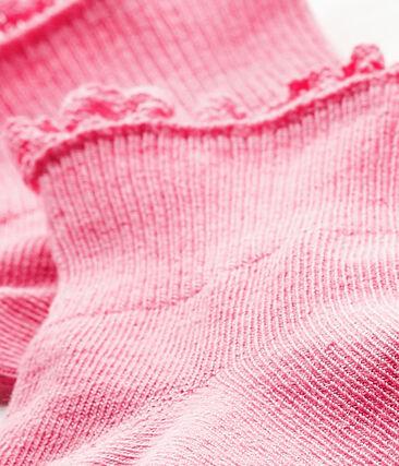 Calzini in pizzo bebè femmina rosa Petal