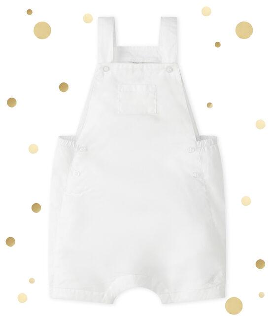 Salopette corta per bebè maschio bianco Ecume