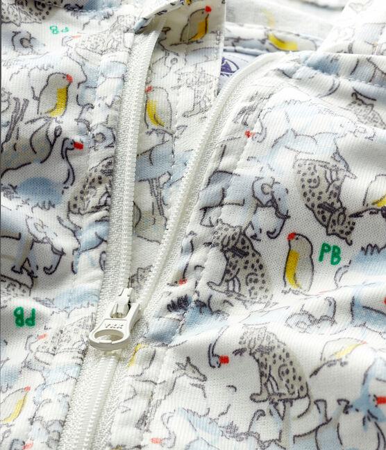 Giacca antivento fantasia bebè unisex bianco Marshmallow / blu Brut