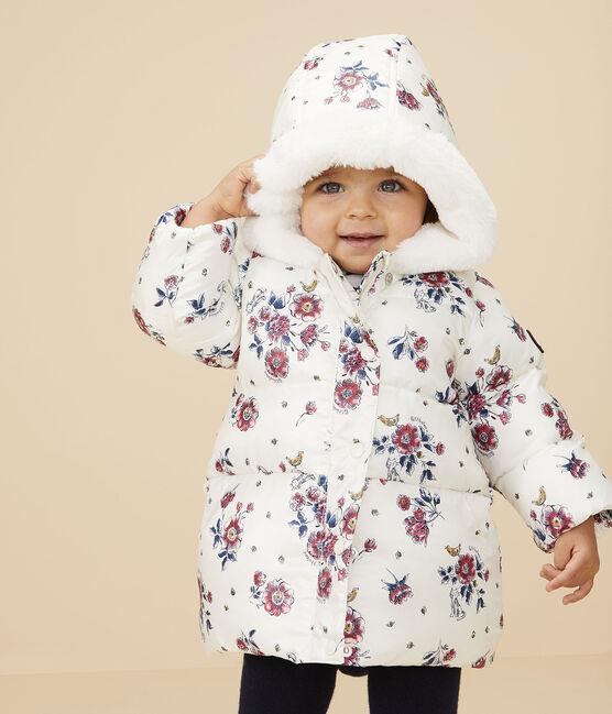 Piumino bebè femmina bianco Marshmallow / bianco Multico