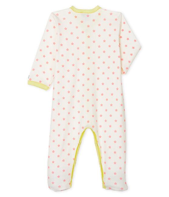 Tutina pigiama bebè femmina a costine bianco Marshmallow / rosa Gretel