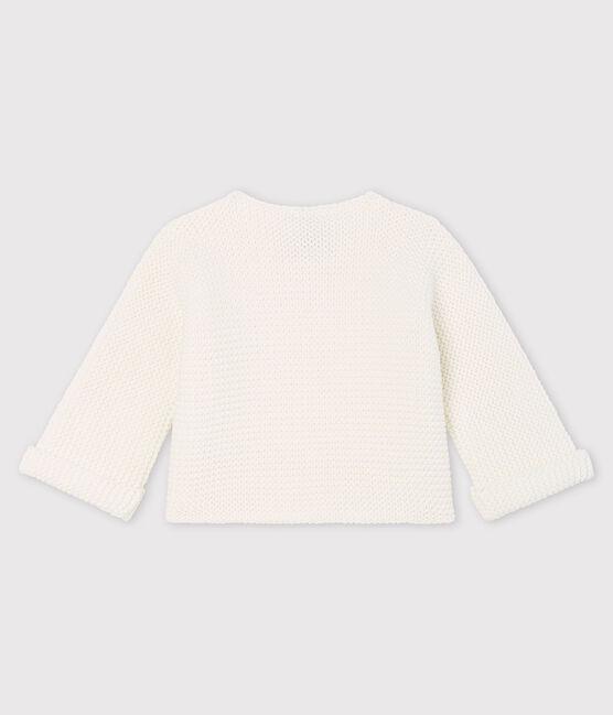 Cardigan bebè in tricot di cotone biologico bianco Marshmallow