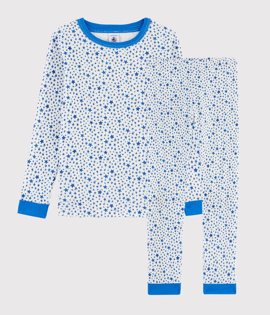 Pigiama snugfit fantasia stelle bambino a costine bianco Marshmallow / bianco Multico
