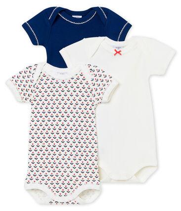 Lotto di 3 bodies s maniche corte per bebé femmina