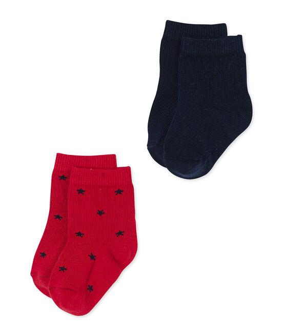 Lotto di calze per bebé maschio in tinta unita + a stelle lotto .