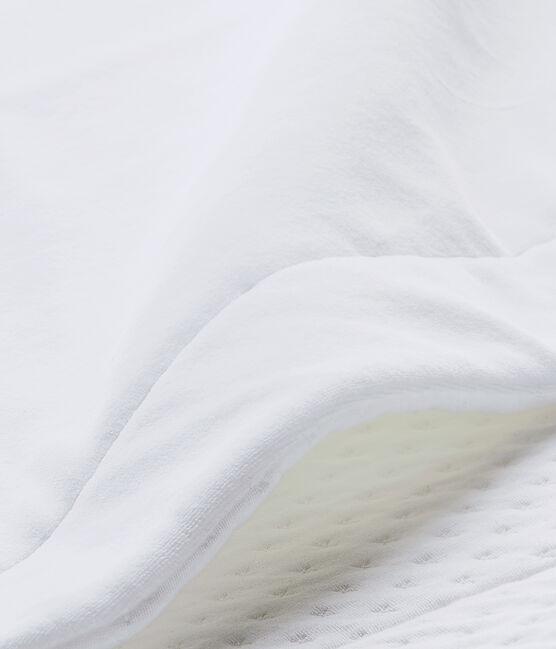 Copertina per bebé unisex bi-matière bianco Ecume