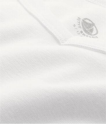 T-shirt manica corta iconica uomo bianco Ecume