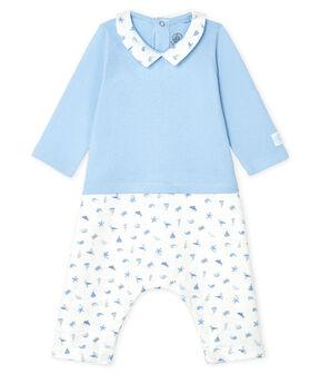 Tutina lunga bebè maschio blu Jasmin / bianco Multico
