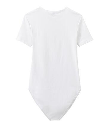 Body donna BODYCONIQUE in cotone bianco Ecume