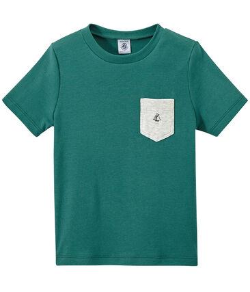T-shirt bambino con tasca sul petto