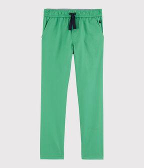 Pantaloni in serge bambino verde Aloevera