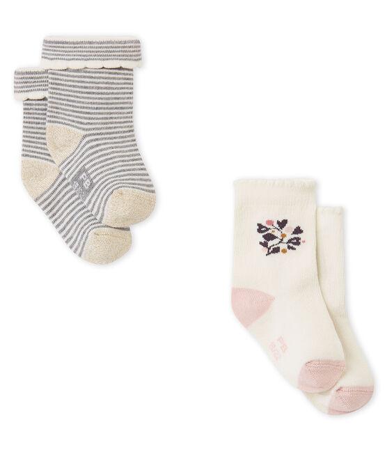Lotto di due paia di calze per bebé femmina lotto .
