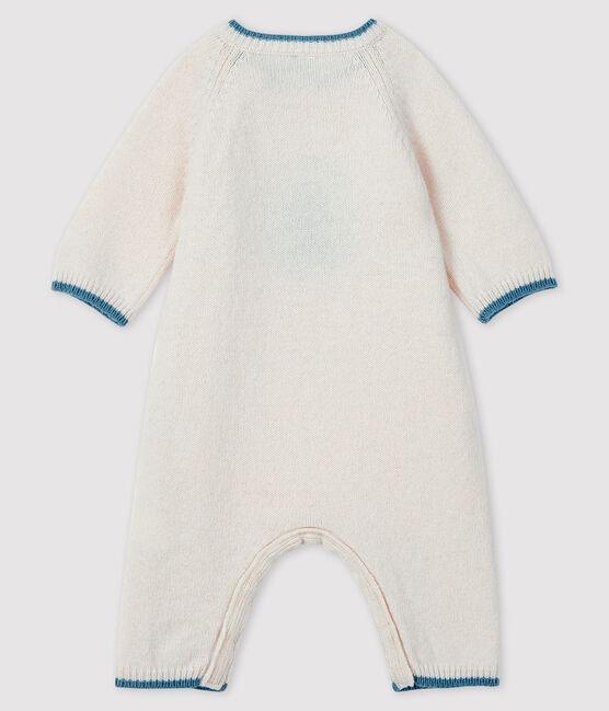 Tutina lunga da neonato jacquard in maglia tricot bianco Marshmallow