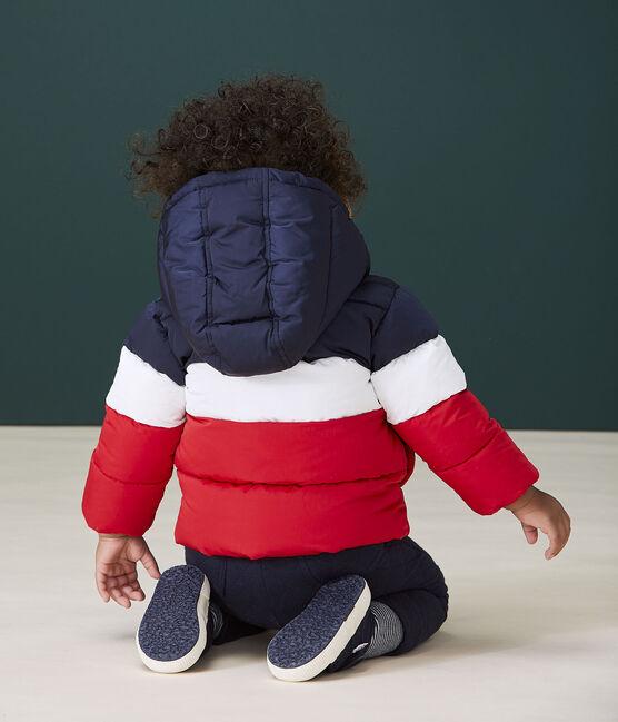 Piumino trapuntato bebè maschio blu Smoking / bianco Multico