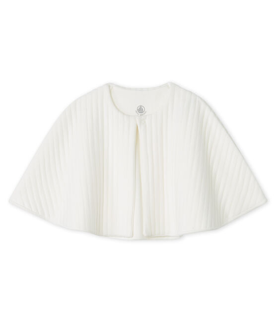Mantella bebè in tubique trapuntato bianco Marshmallow