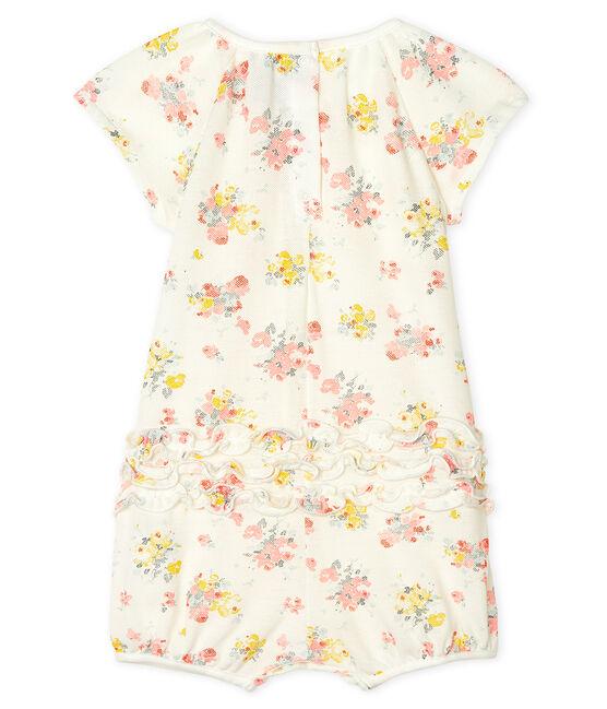 Tutina corta bebè femmina in fantasia bianco Marshmallow / bianco Multico