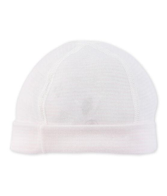 Cappellino nascita bebé millerighe rosa Vienne / bianco Lait