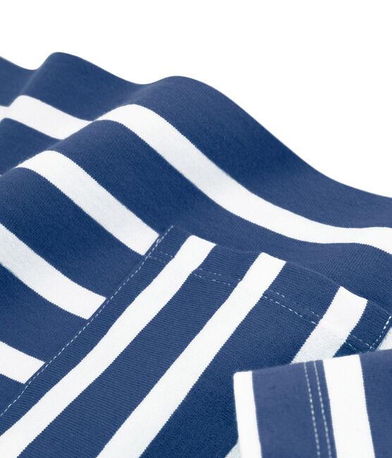 Marinière donna blu Medieval / bianco Marshmallow